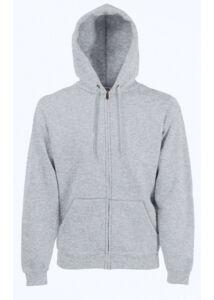 Fruit hoodedsweat jacket_62062_heather grey_XL