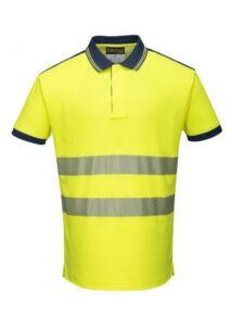 T180 - Jól láthatósági Vision pólóing - sárga/fekete L