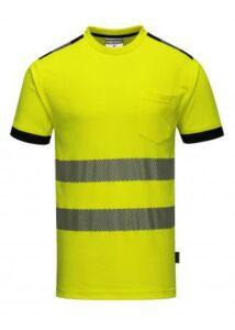 T181 - Jól láthatósági Vision póló - sárga / fekete 3XL