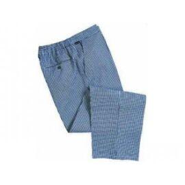 C075 - Barnet séf nadrág - kockás (kék fehér) 3XL