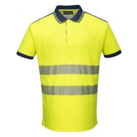 T180 - Jól láthatósági Vision pólóing - sárga/fekete S
