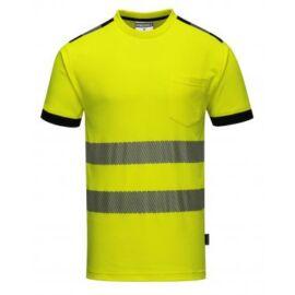 T181 - Jól láthatósági Vision póló - sárga / fekete 2XL