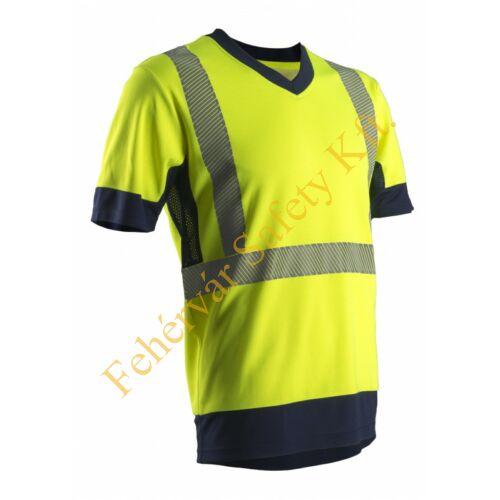 KOMA láthatósági rövid ujjú póló_XL
