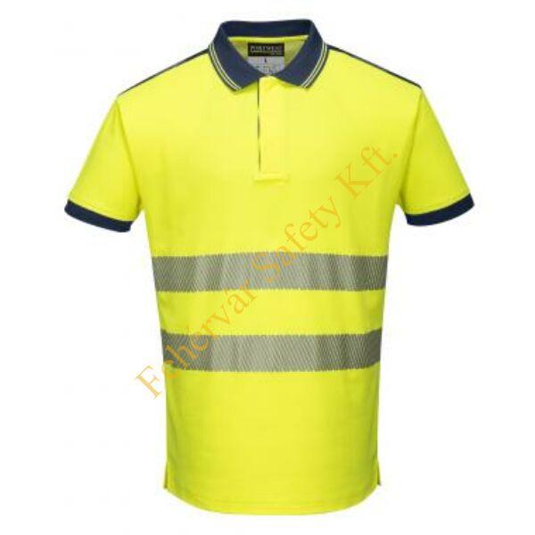 T180 - Jól láthatósági Vision pólóing - sárga/fekete 3XL
