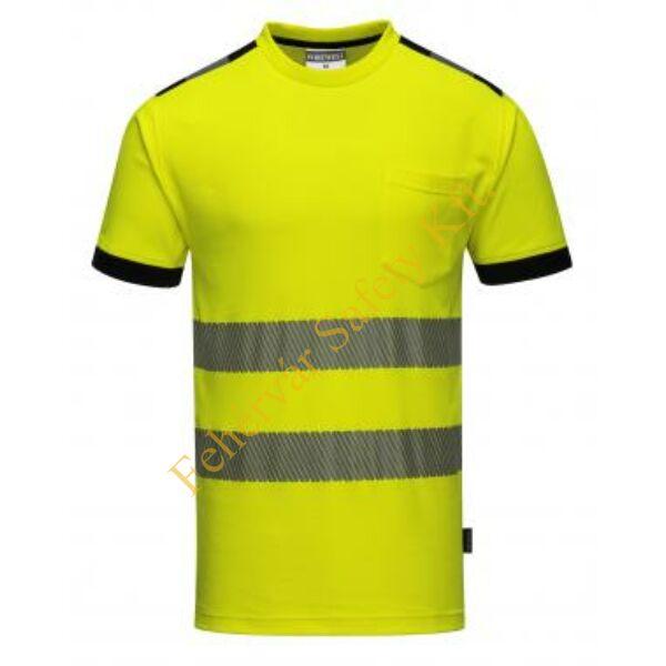 T181 - Jól láthatósági Vision póló - sárga / fekete S